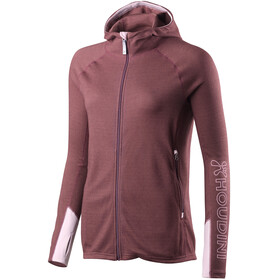 Houdini Alpha Hoodie Women Mulberry Red